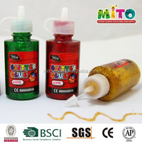 60ml professional factory supple decorative glitter glue