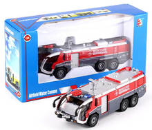 1:50 free wheels diecast metal fire engine with water cannons
