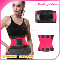 Rose Red Weight Loss Curves Fat Burning Waist Belt Plus Size