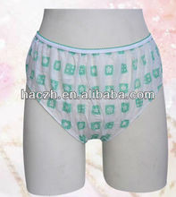 Nonwoven disposable lady underwear/brief/panty/bra