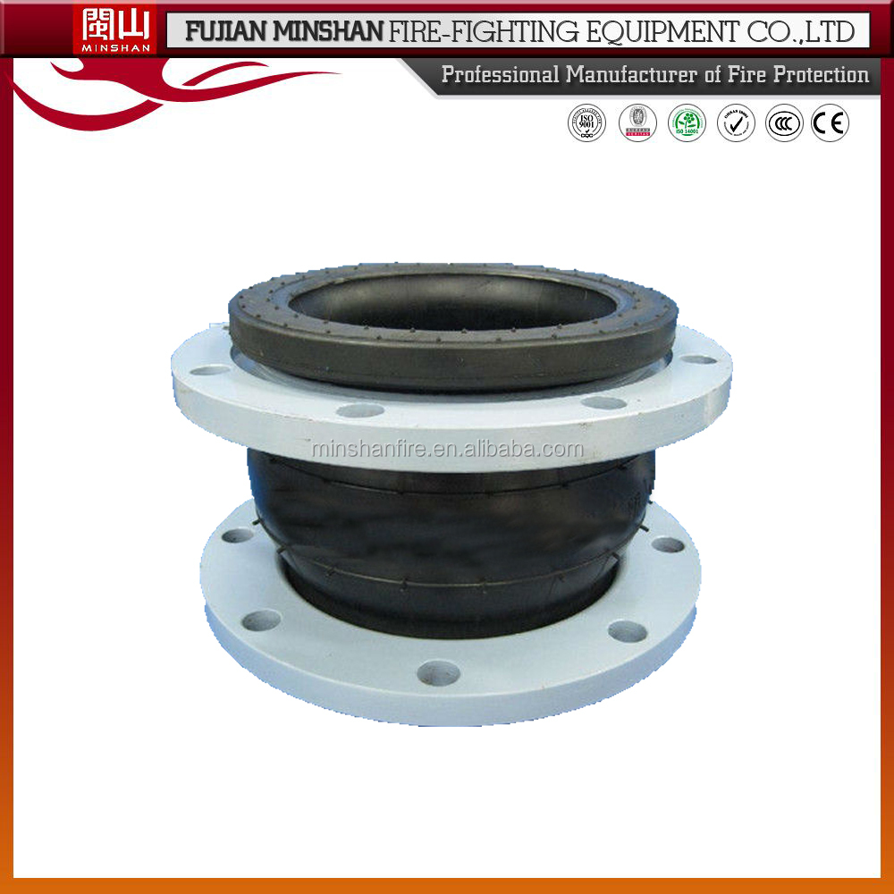 soft connection galvanized union type rubber expansion flexible joints