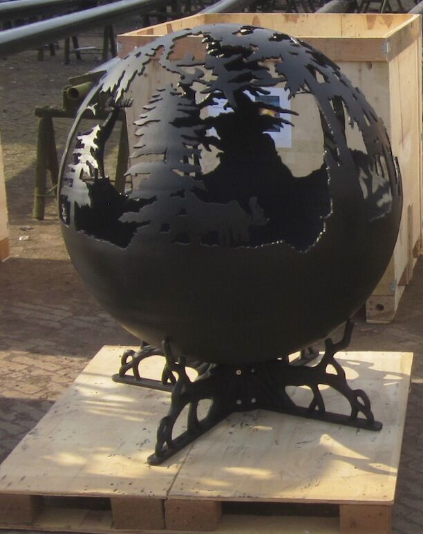 outdoor patio sphere garden globe fire pits buy fire pit. Black Bedroom Furniture Sets. Home Design Ideas