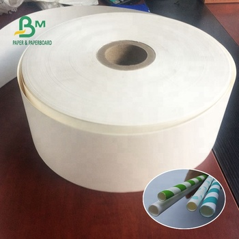 24gsm 28gsm 60gsm 120gsm Food Grade Biodegradable White Craft Paper For Paper Straw & Straw wrapping