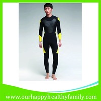 Men's Full Body Warmer Suit Diving Snorkeling Swimming Neoprene Wetsuits Yellow & Black