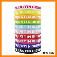 Hot Selling I Love Justin Bieber Silicone Bracelet Wholesale ZTOD-B502