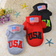 Winter Extra Heavy Dog Cotton USA Hoodie Windproof Warm Small Dog Clothes