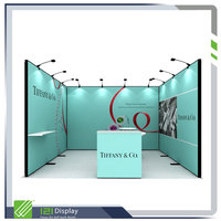 Aluminum modular display booth 3x3
