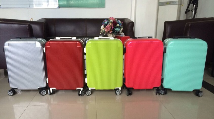 High Quality Aluminum wheel,Aluminum Alloy Frame,Aluminum Alloy Rod,Trolley Luggage,Travel Suitcase On 4 Wheel
