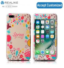 Fashion style OEM design print clear custom tpu case for iphone 7