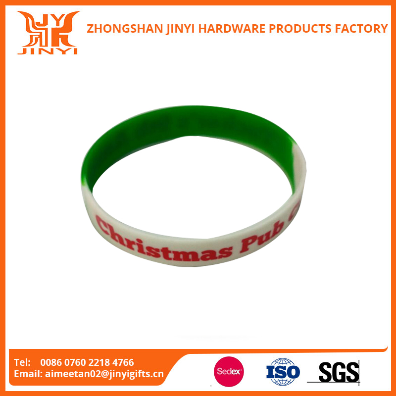 Bulk cheap personalized silicone rubber wristband in zhong shan