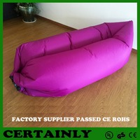 Inflatable Flocking Bean Bag Sofa, Inflatable Flocking Moon Chair, Inflatable Lazy air sofa chair for sale