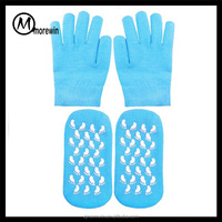 2016 Morewin Essential Oils Gel Glove socks Soft Cotton Moisturizing Spa Gloves and Socks Set