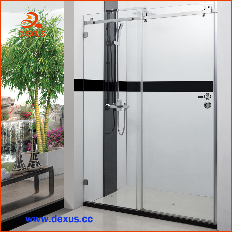 Frameless Custom Design Glass Shower Screen For Home