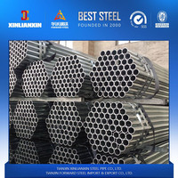 BS1387/EN10025 EN10219 G344/ A53 Gr A B B D/API 5L/Hot Dip Galvanized Steel Pipes GI tube couping threading caps for gas