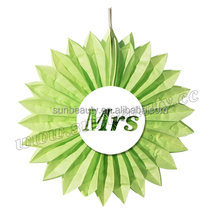 Handmade Honeycomb Wedding Paper Fan for Wedding Hall Decoration