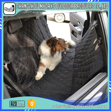 Durable luxury dog pongee dog cover car seat with side flaps