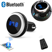 Wireless MP3 Audio Player HandsFree Bluetooth Car Kit with FM transmitter