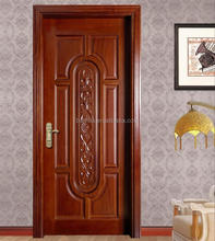 Interior Europe style solid wooden door for villa house new design