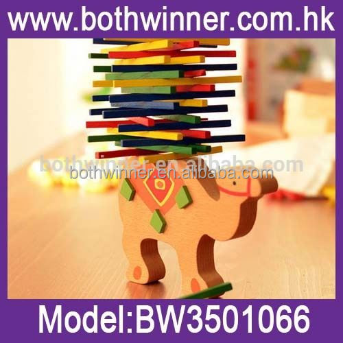2016 new building block toys wooden balance clown beam puzzle game ,MW031 educational toy