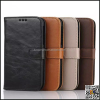 Crazy Horse PU Leather Magnetic Wallet Credit Card Slot Cover For BlackBerry Q20, for BlackBerry Q20 wallet case