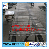 wide spiral flat wire link belts/wire mesh conveyor belt