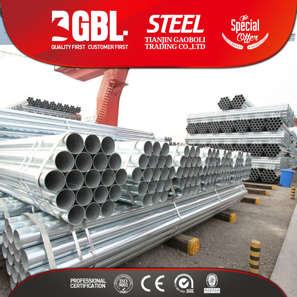 Hot dipped galvanized steel pipe weight for scaffold material