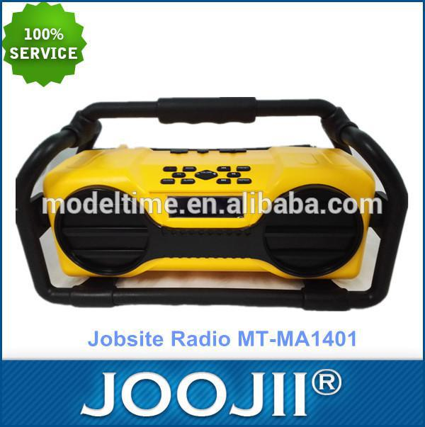 Multifunctional bluetooth portable jobsite FM radio for construction, camping