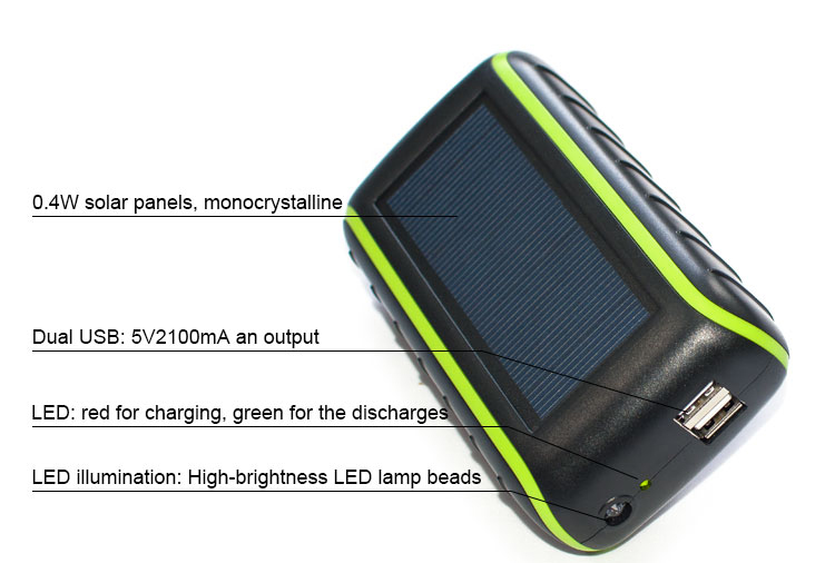 Hand dynamo solar power bank Solar Smart Cell Phone Charger for Mobile Phone , solar mobile phone charger with torch night