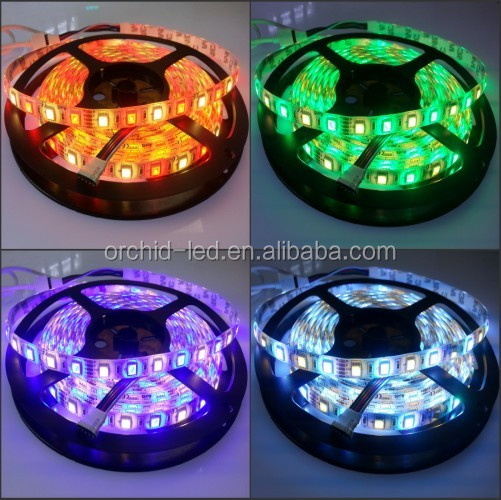 2016 New Arrival Factory Direct-Sale High Quality 5050SMD DC12/24V 72W 300Leds IP20/IP65 RGB+WW/W Mix-color Led strip light