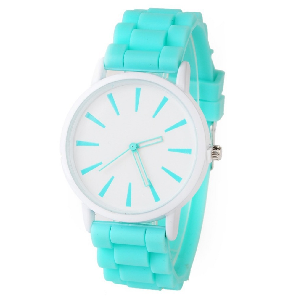 Women Fashion Brand Elegant Colorful Silicone Watch Ladies Girls Dress Quartz Watch Children Clock Saat Relojes Mujer 2015