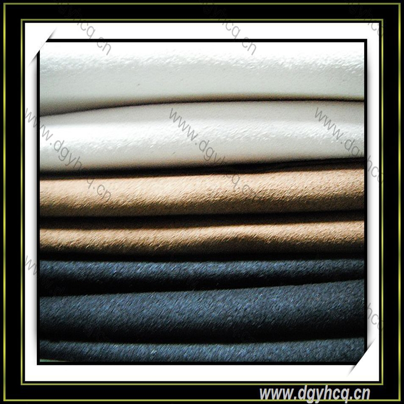 Yuhua washable eco-friendly waterproof dyed suede leather supplier