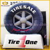 Promotion cheap inflatable tire, gaint tire balloon, tire replica