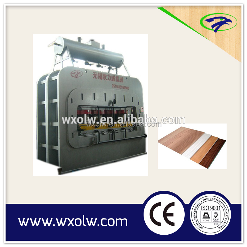 HDF/MDF laminate wood floor making machine with CE