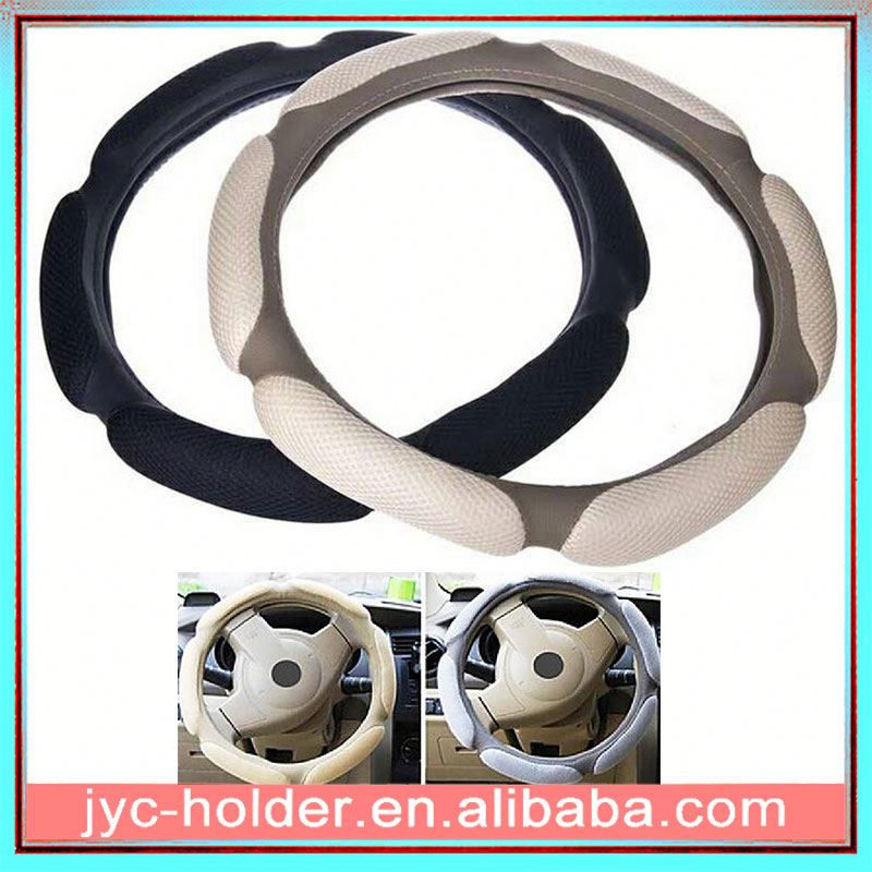 Artificial leather steering wheel cover H0Tkh carbon fiber interior trim