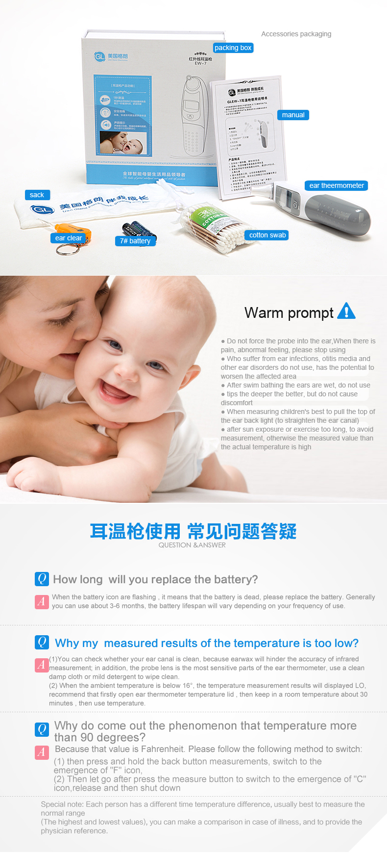 CE ROHS accurate upgraded one of the best baby thermometer