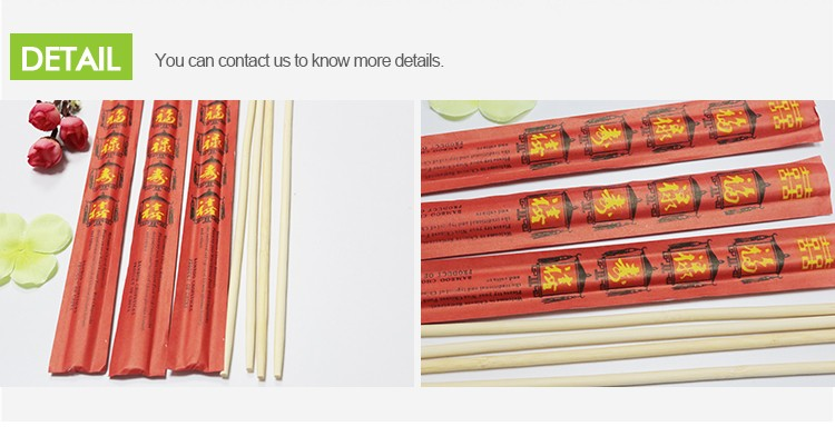 Bamboo Chopsticks Paper Wrap Children Chopsticks