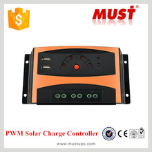 Must PWM controller solar charger CE solar panel controller 12v 24v rate 30a battery charger