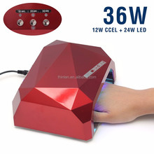 China 36W LED Lamp Nail Dryer Long Life Fast Dry gel per unghie lampada led uv diamond 36w gel ccfl led buble nail lamp for nail