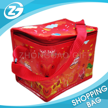 China factory custom printed logo non woven large insulated groceries travel cooler bags non woven