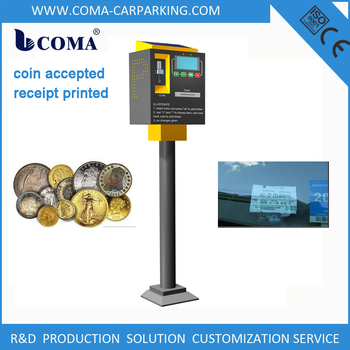 Automated on street car parking system coin operated parking meters