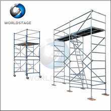 5 Tons Bearing Capacity Layher Scaffolding With Wheels And Stair Adjustable Height Used Layher Allround Scaffolding