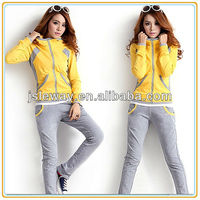 2013 Women new fashion 100% cotton sportswear tracksuits for training and jogging/lesiure tracksuits hoody and pants