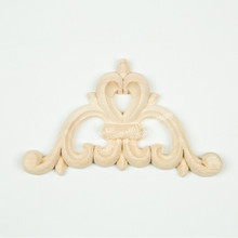 Decorative Carved Wood Corner Onlays Rosettes For Cabinet