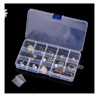 Wholesale adjustable clear small tool accessories keyway plastic compartment storage box with dividers