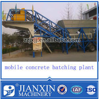 YHZS35 mobile ready mixed concrete batching plant installed in Singapore