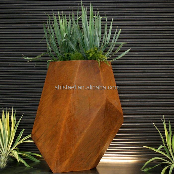Garden & Home Decoration Cheap Corten Steel Flower Pots