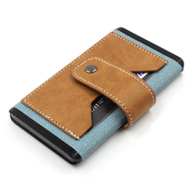 The Portable Leather Power Bank, Portable Charger Power Bank, 5000mAh Light Blue PU Leather Power Bank