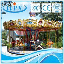 Power-driven used commercial playground equipment sale Carousel ride rotating horse