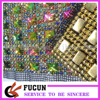 wholesale colorful Rhinestones acrylic Trim Crystal Banding Net