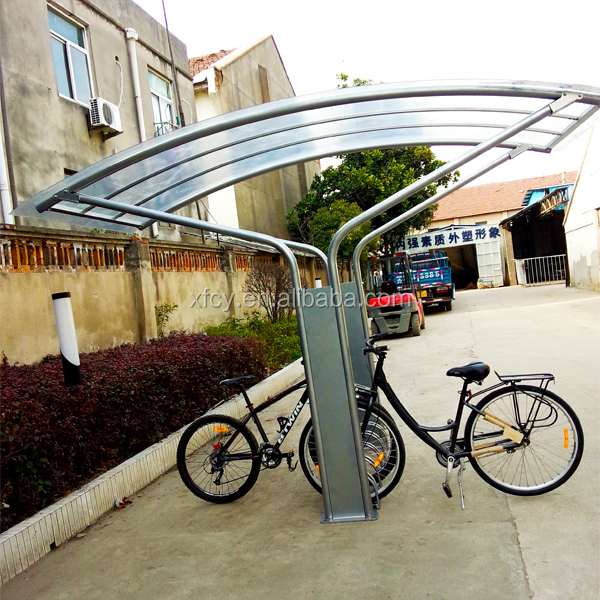 Galvanizing with Powder Coating Bicycle Parking Shelter /Bike Stand Shelter ISO Approved)